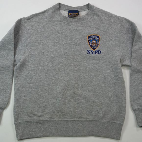 7bc68991 NYPD Embroidered Logo Crew Neck Sweatshirt Gray M